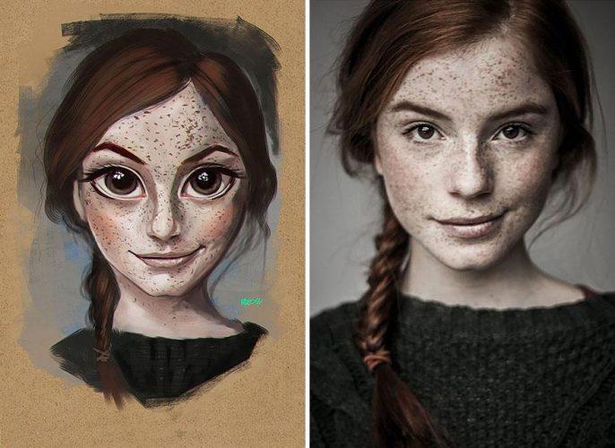 Ilustração digital do artista Júlio Cesar