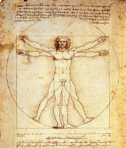 Homem Vitruviano, desenho de Leonardo DaVinci