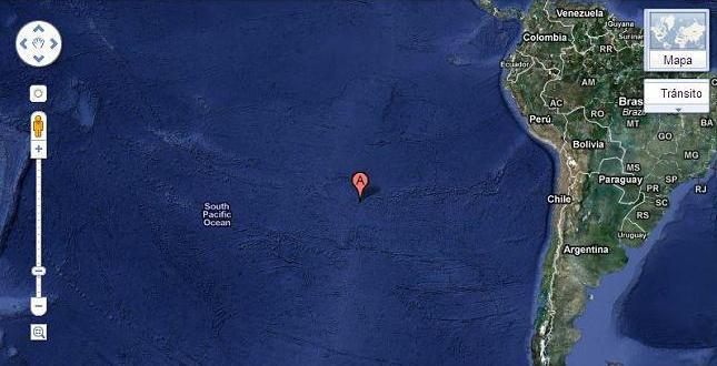 Localização da Ilha de Páscoa no Google Earth