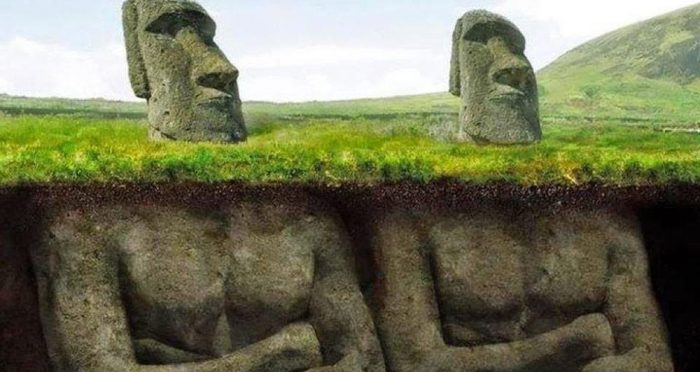 Estátua de pedra gigante da Ilha de Páscoa