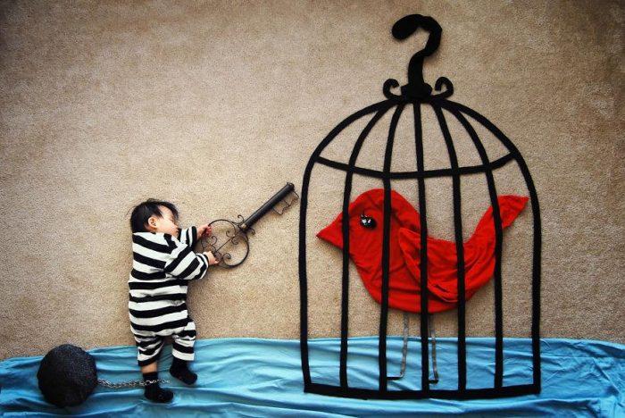 Artista torna realidade as aventuras que ela imaginava que seu filho sonhava enquanto dormia.