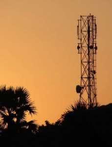 Torres de telefonia celular na vizinhança