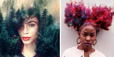 Artista transforma cabelos afro em galáxias floridas para lembrar às mulheres negras que elas são únicas