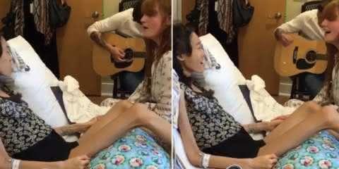 Florence Welch encanta uma fã e os outros pacientes deste hospital. Você vai se emocionar.