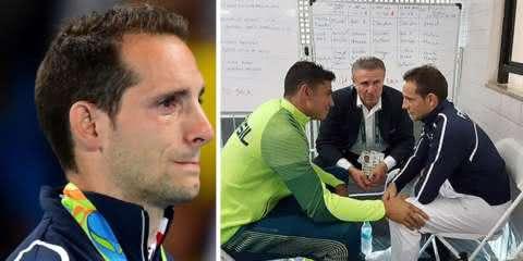 Thiago Braz consola rival francês após ele ser vaiado e chorar muito no pódio