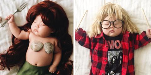 Fofura do dia: mãe faz cosplay com sua filha enquanto ela dorme
