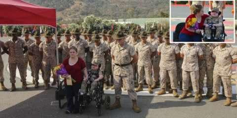 Menino com rara doença tem seu último desejo realizado pela Marinha
