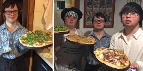 Seis amigos com Síndrome de Down abrem pizzaria e fazem o maior sucesso