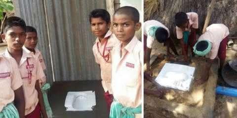4 alunos fazem vaquinha para construir um banheiro para o amigo