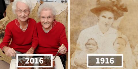 Gêmeas comemoram 100º aniversário e revelam segredo para viver feliz