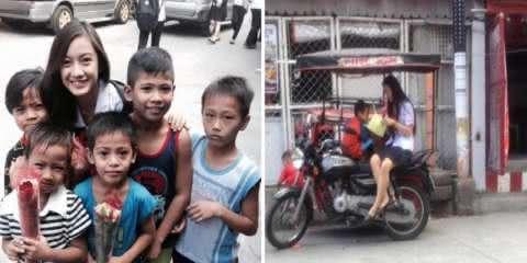Universitária dedica seu tempo livre para ensinar crianças pobres nas Filipinas