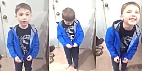 Mãe registra reação do filho autista ao conseguir fechar um zíper sozinho