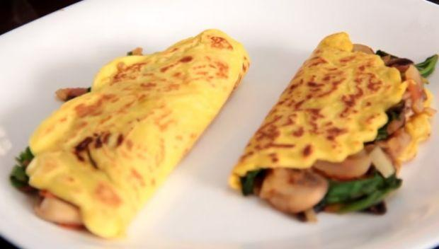receita omelete vegano
