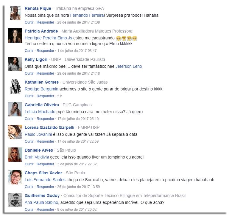 comentários no publieditorial do instaviagem