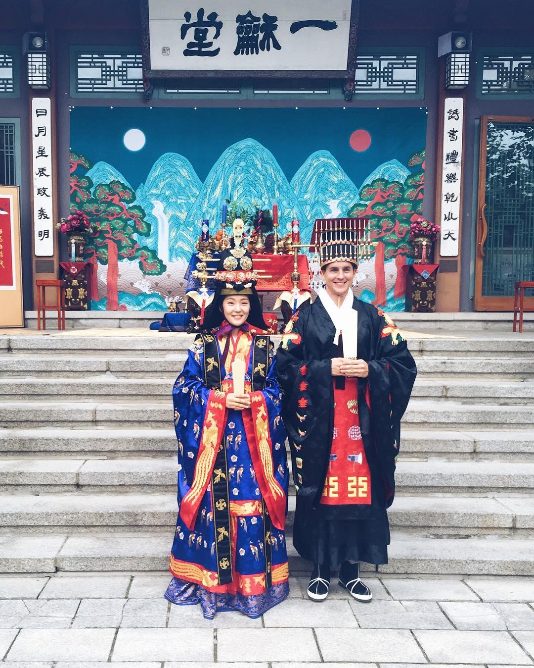 Trajes tradicionais de casamento na Coréia do Sul