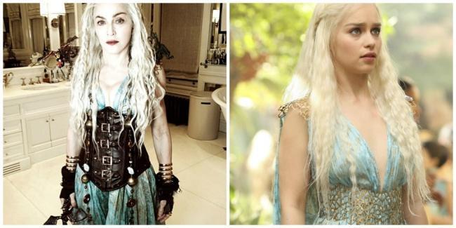Madonna e Khaleesi vestidas com a mesma roupa
