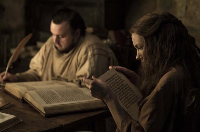Sam e Gilly lendo livros