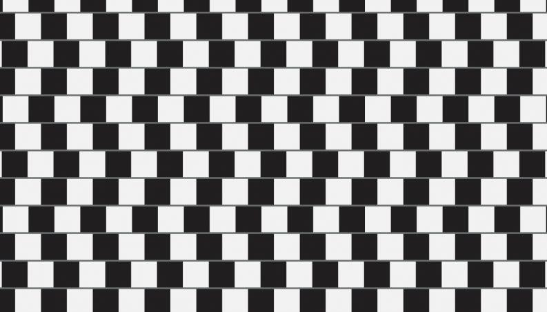 Famosa ilusão de ótica conhecida como Coffee-wall