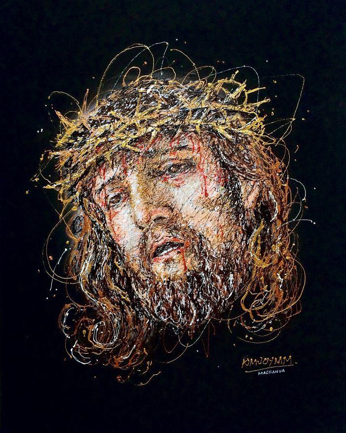 Arte com siringa Jesus Cristo 1