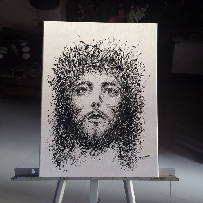 Arte com siringa Cristo 1