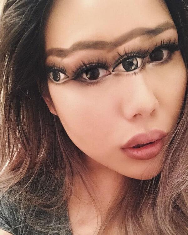 Maquiagem com ilusão de ótica (1)