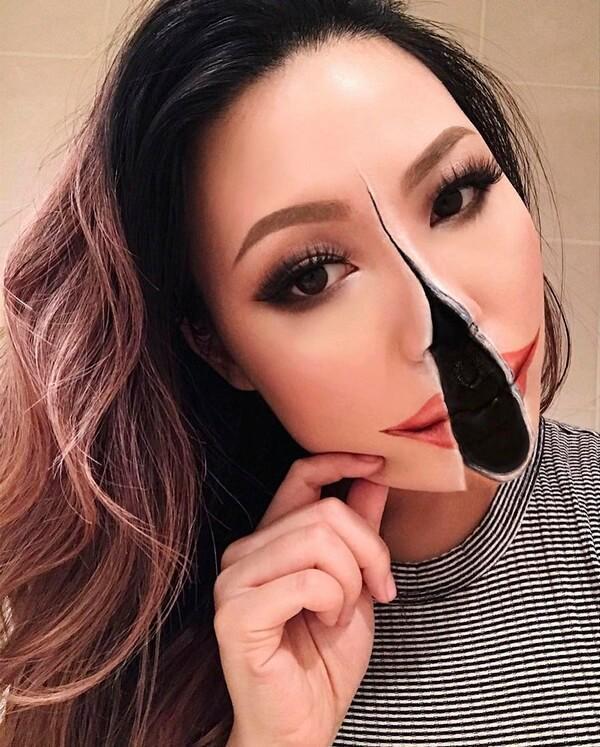 Maquiagem com ilusão de ótica (11)