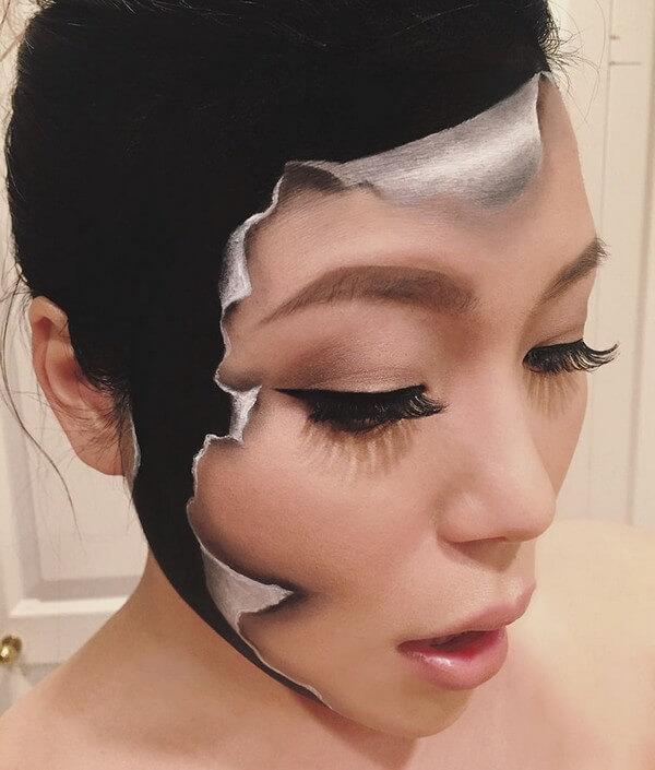 Maquiagem com ilusão de ótica (2)