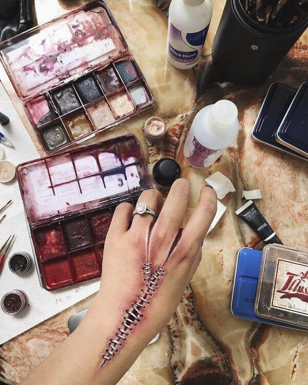 Maquiagem com ilusão de ótica (5)