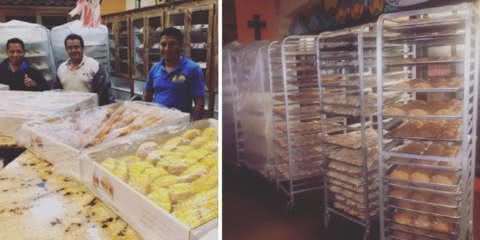 Eles ficaram presos durante furacão e decidiram fazer pães para as vítimas