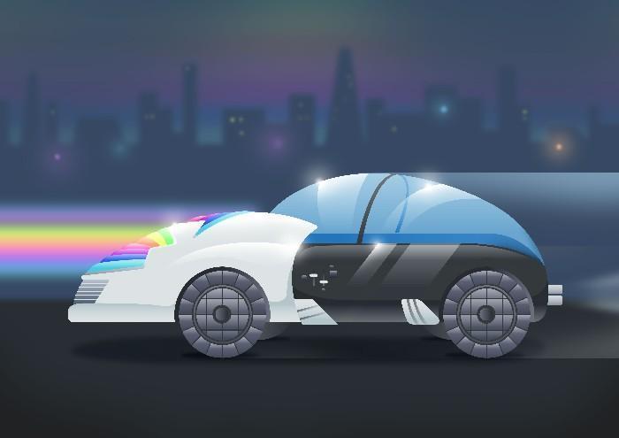 Carros do futuro desenhados por criança 18