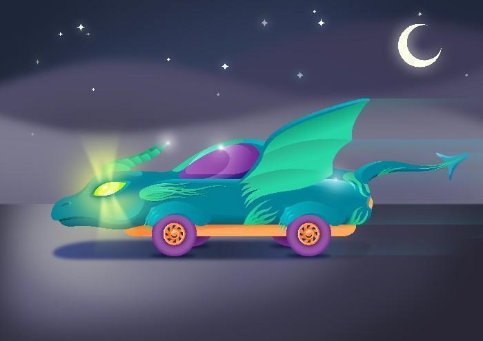 Carros do futuro desenhados por criança 2