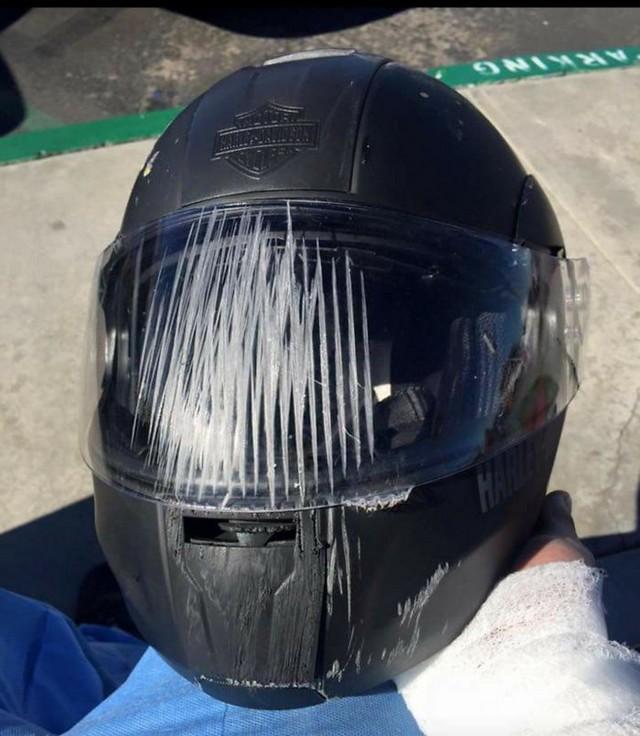 imagens capacete acidente