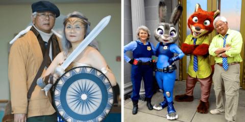 Conheça o casal aposentado que fisgou a web com suas habilidades de cosplay
