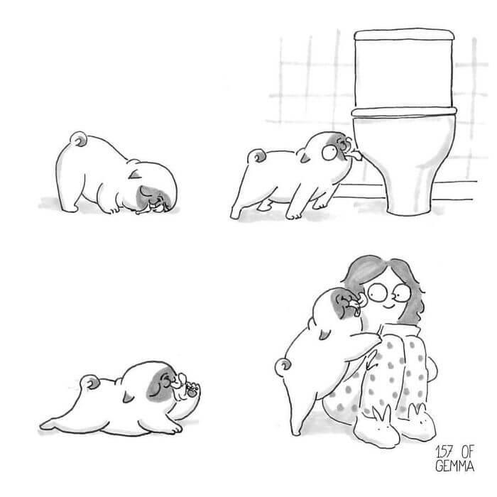 Tirinhas Cão Pug (5)