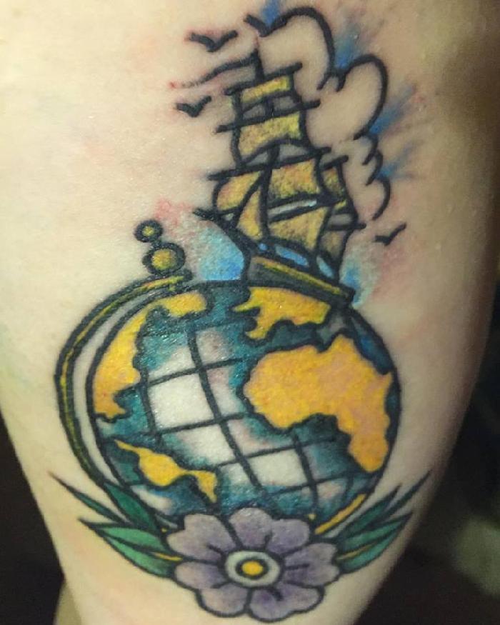 Ideias de tatuagens para quem ama viajar 2