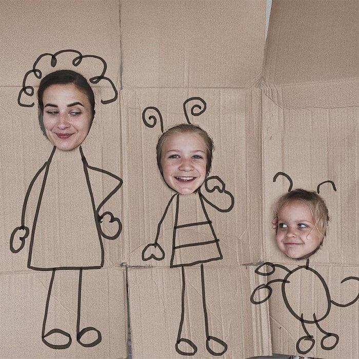 Mãe e filhas em fotos divertidas (14)