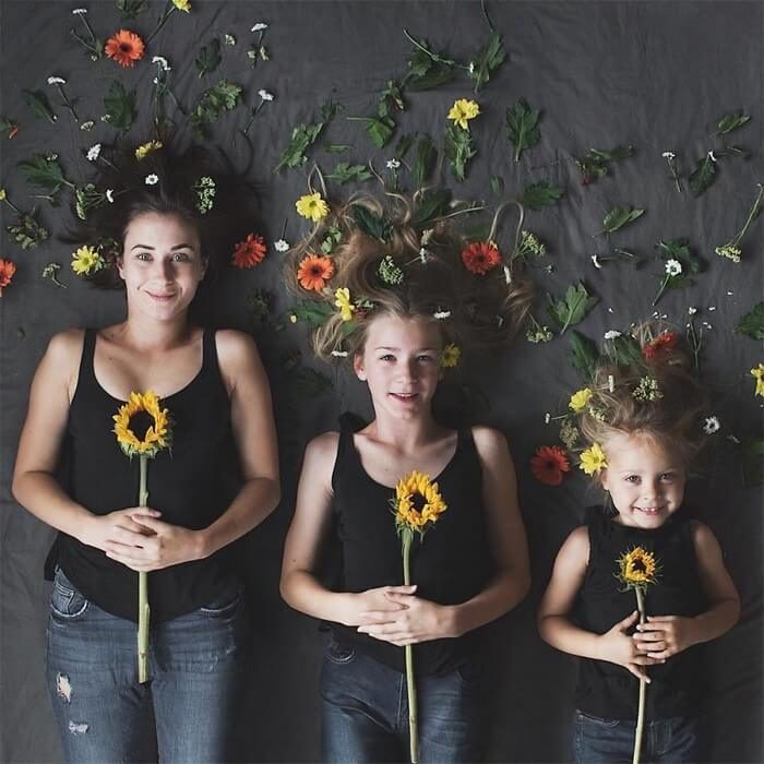Mãe e filhas em fotos divertidas (16)