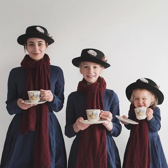 Mãe e filhas em fotos divertidas (8)