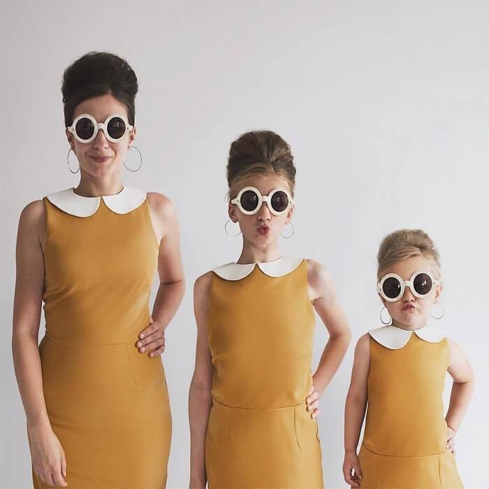 Mãe e filhas em fotos divertidas (9)
