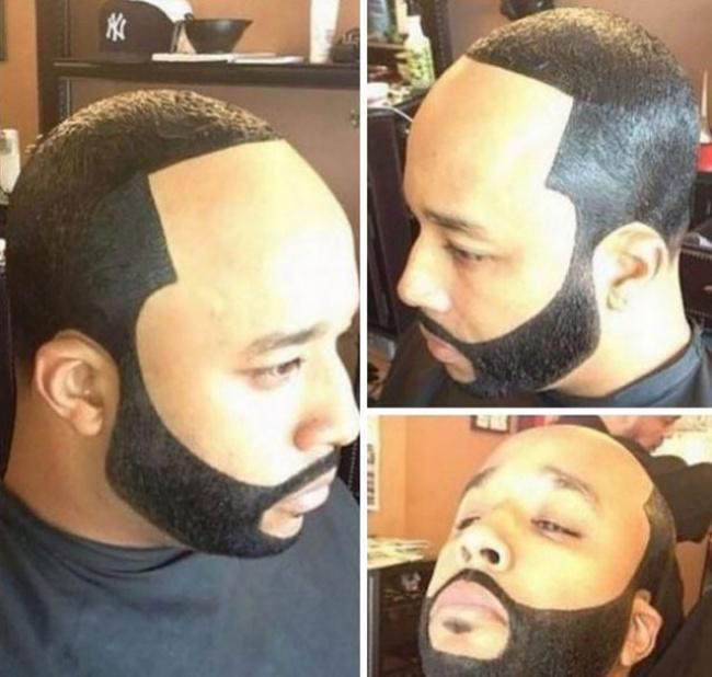 Cortes de barba e cabelo hilários 8