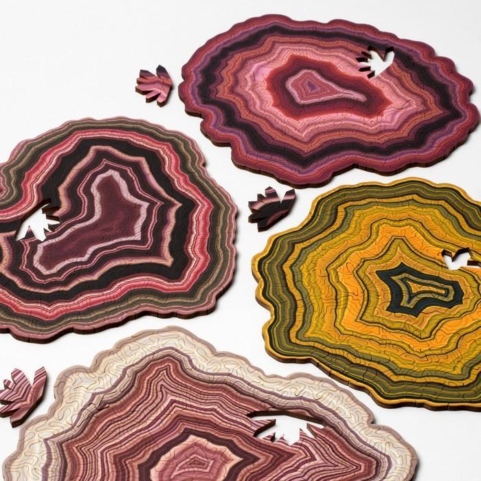 Quebra cabeças de formas geológicas 4
