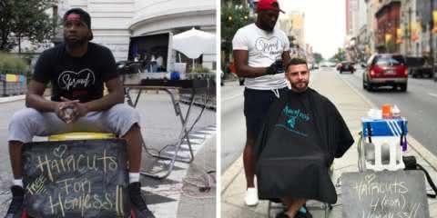 Barbeiro que atendia moradores de rua gratuitamente ganha o próprio salão