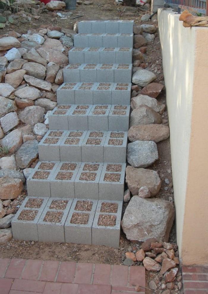 Blocos de concreto utilizados na decoração das casas 1