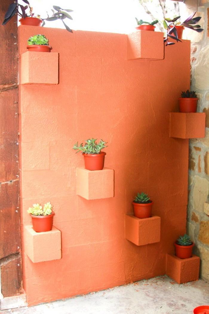 Blocos de concreto utilizados na decoração das casas 11