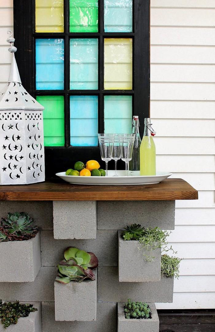 Blocos de concreto utilizados na decoração das casas 12