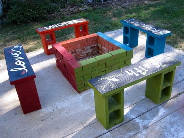 Blocos de concreto utilizados na decoração das casas 8