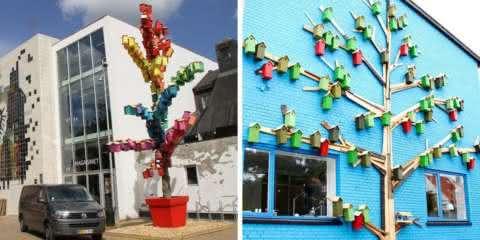 Este projeto de arte de rua já construiu mais de 3500 casinhas de pássaros
