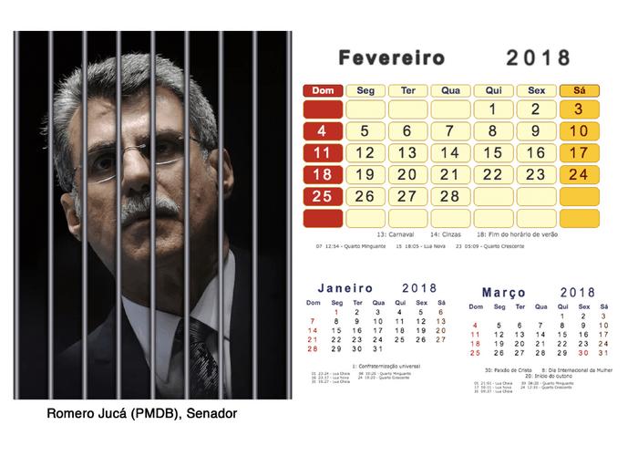 Calendário 2018 Políticos Presos (2)