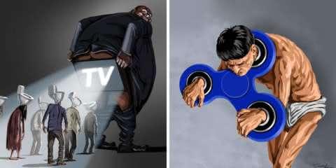 13 ilustrações ácidas que criticam a nossa realidade. Você concorda?