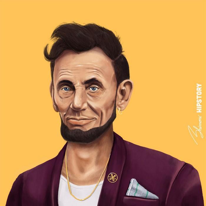 Resultado de imagem para Homem desenhou as maiores figuras mundiais de maneira hipsters